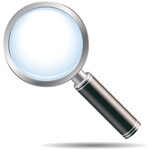 image of a magnifying glass representing SEO